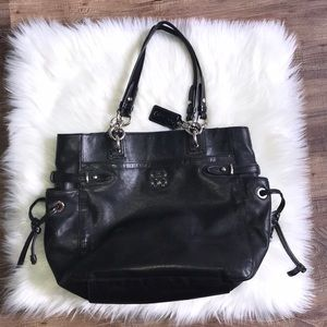 Coach bag black leather